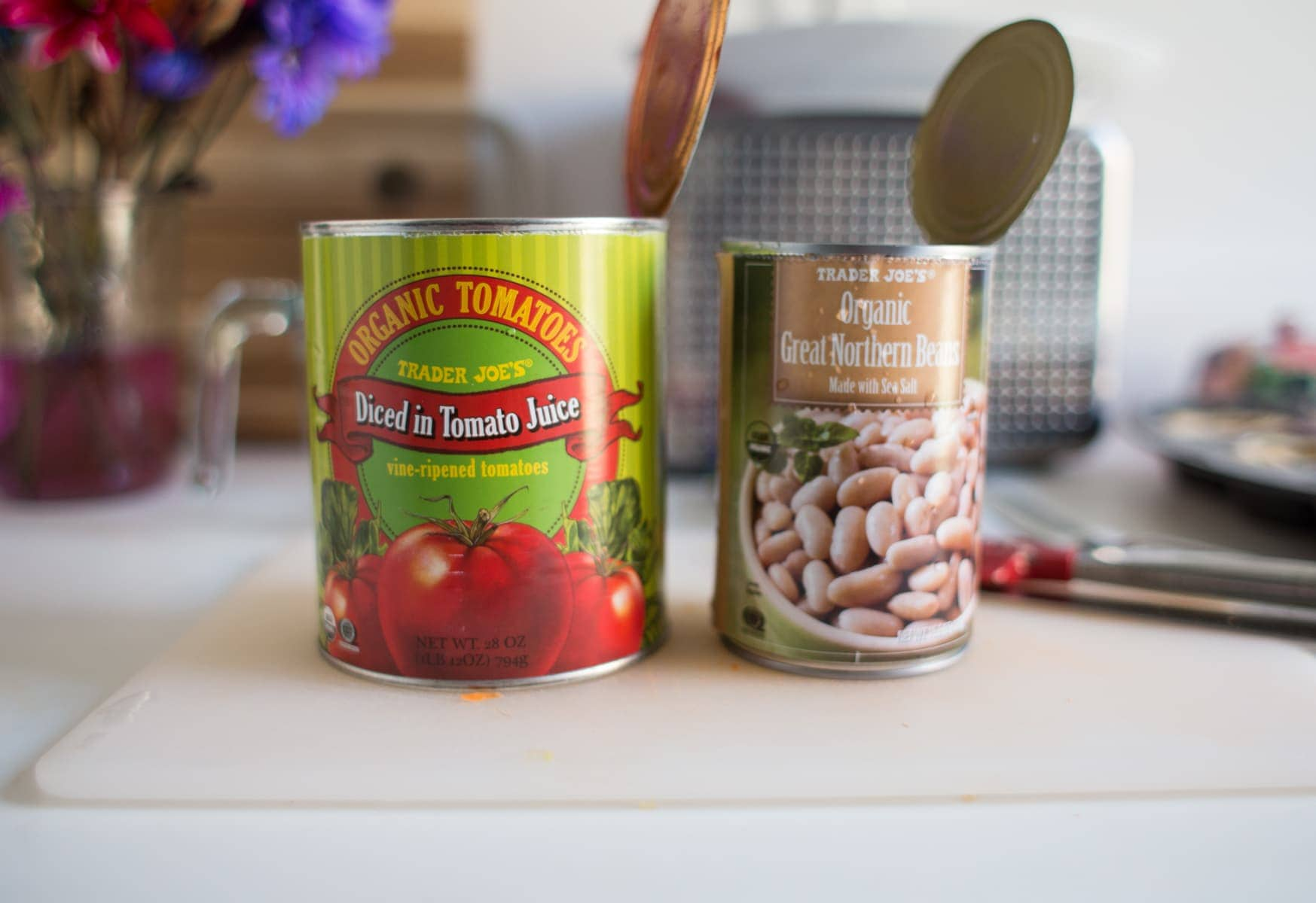 Canned Diced Tomatoes and Great Northern Beans