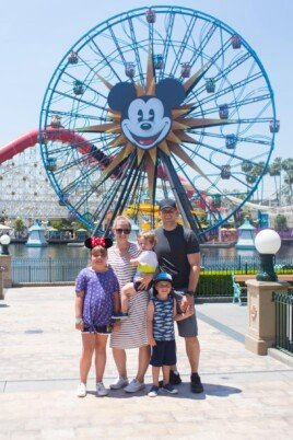 Brennan family at Disneyland