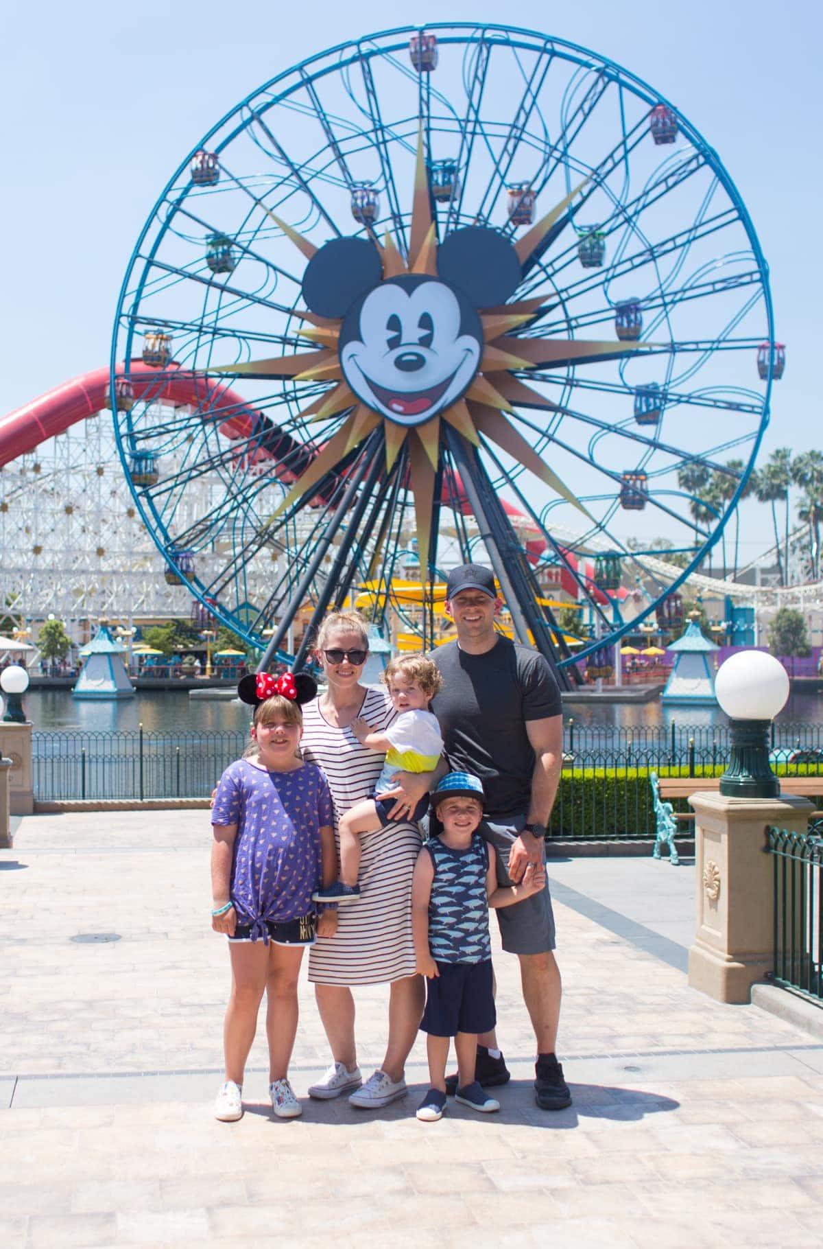 Brennan family at Disneyland