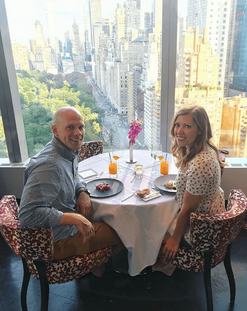 Lauren and Gordon at dinner