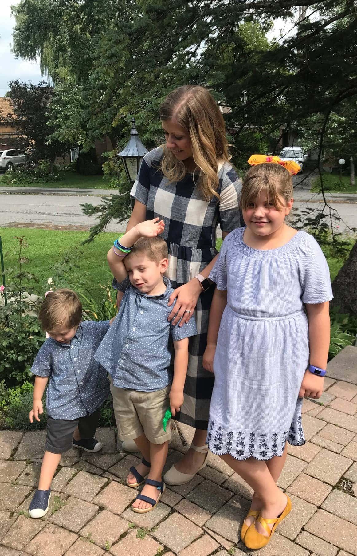 Lauren and the kids