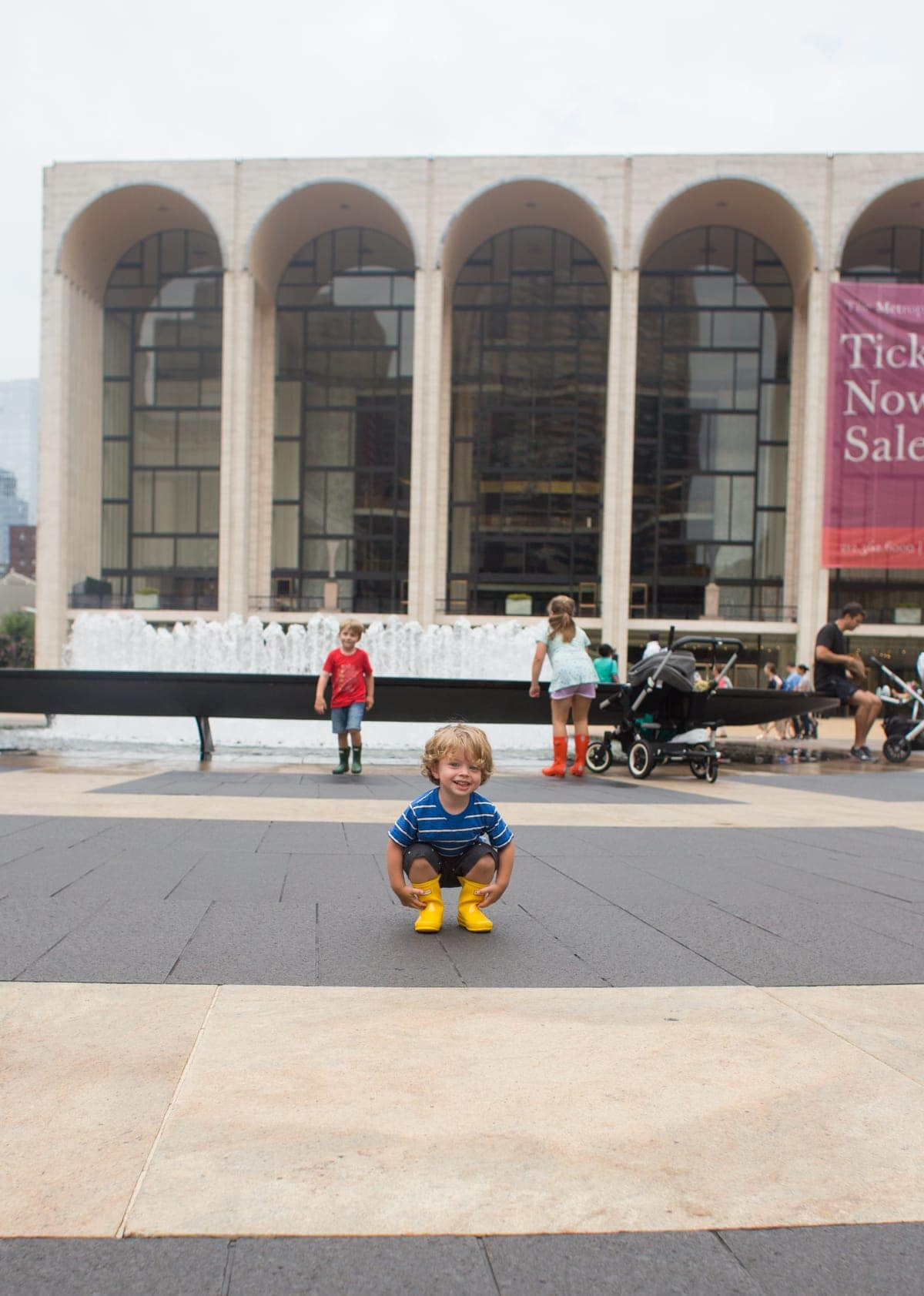 Brennan family at the Lincoln center