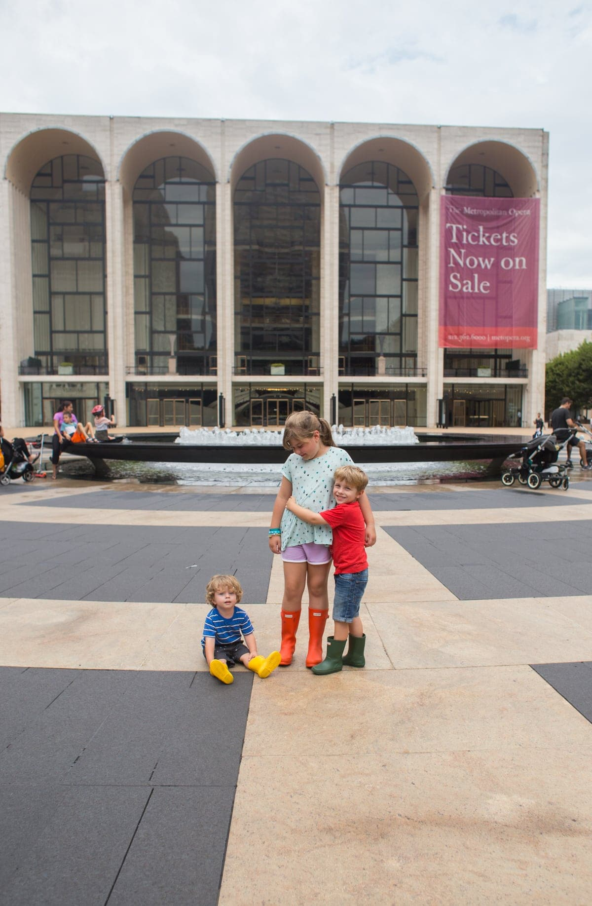 The kids at the Lincoln center