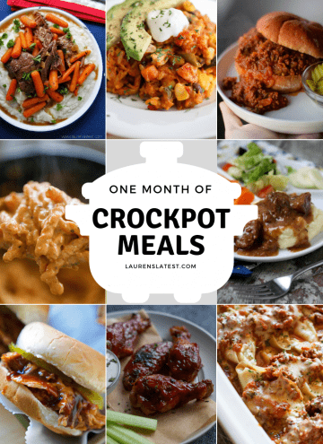 One Month of Crockpot Meals!
