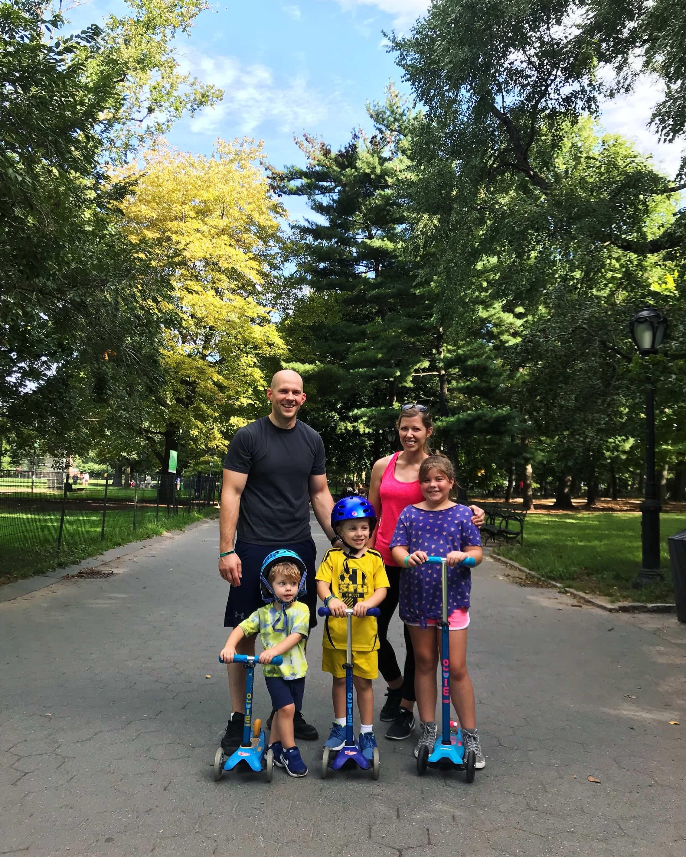 Brennan family outside