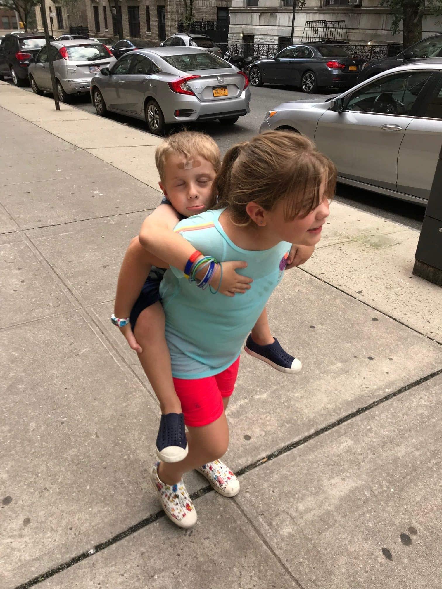 Brooke with Eddie on her back