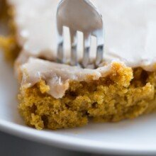 pumpkin bars with fork