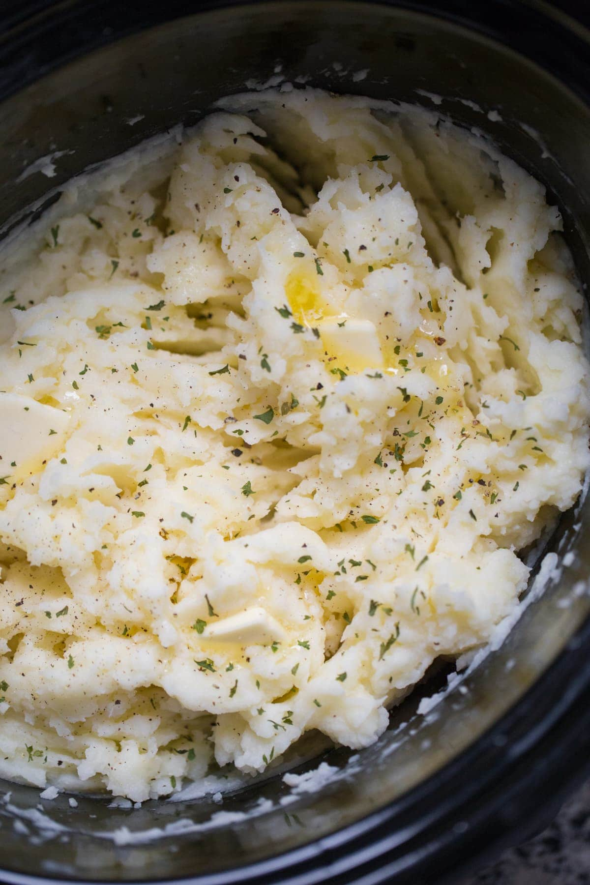 Mashed potatoes made in the crockpot