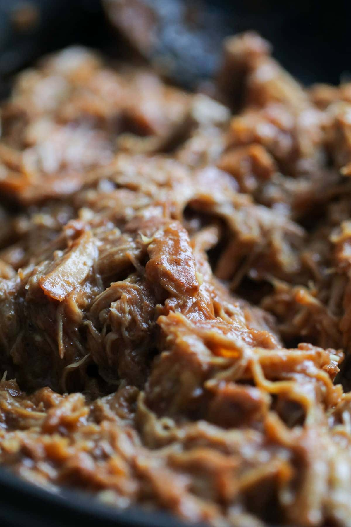 pulled pork shredded in Crock pot