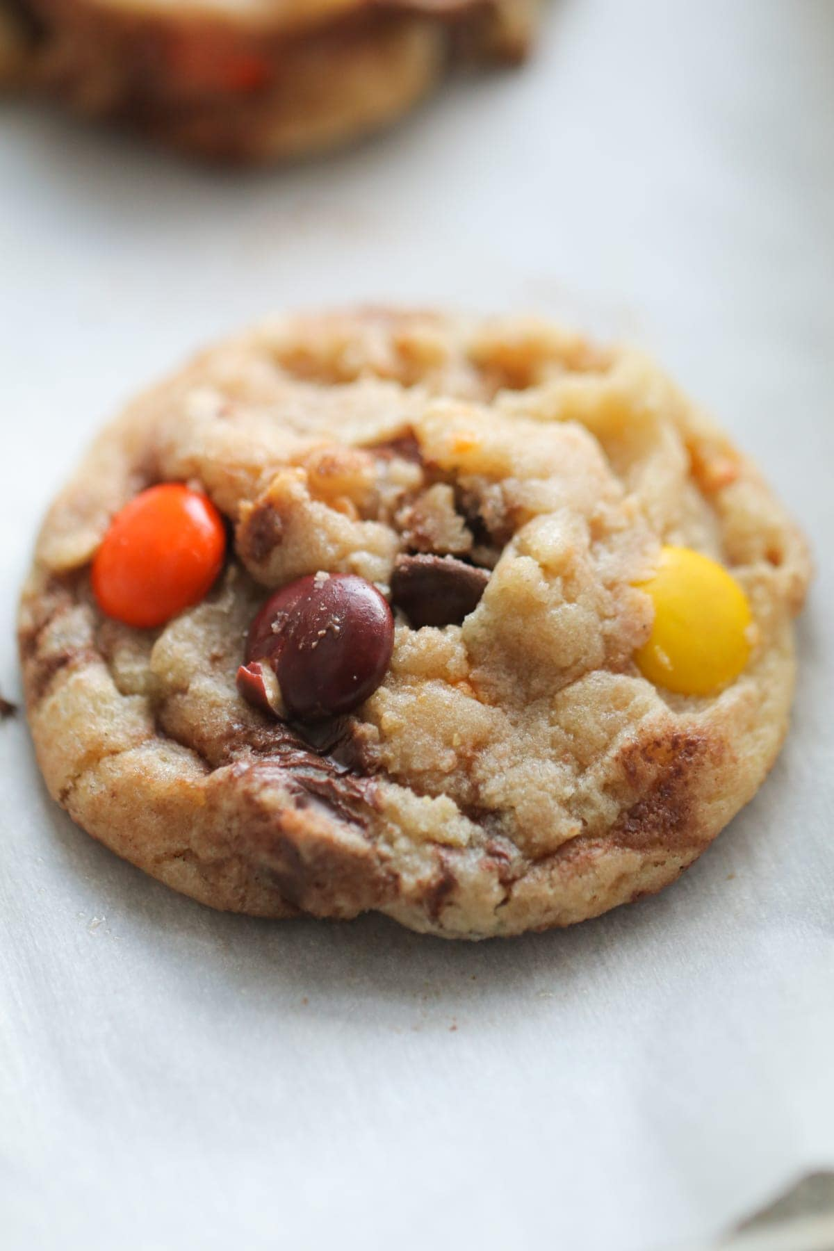 Reese's Pieces Butterfinger Cookies