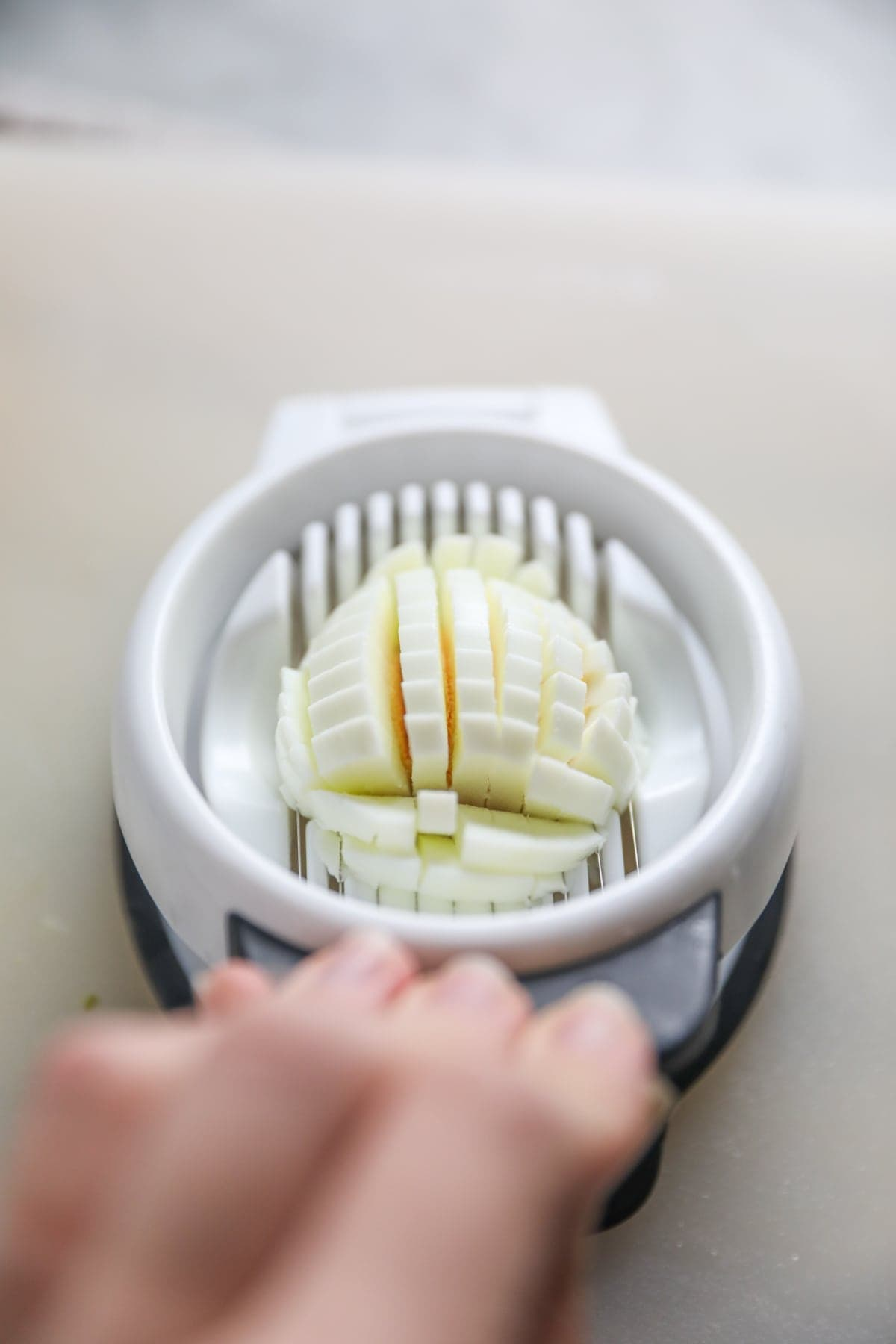 egg slicer with egg