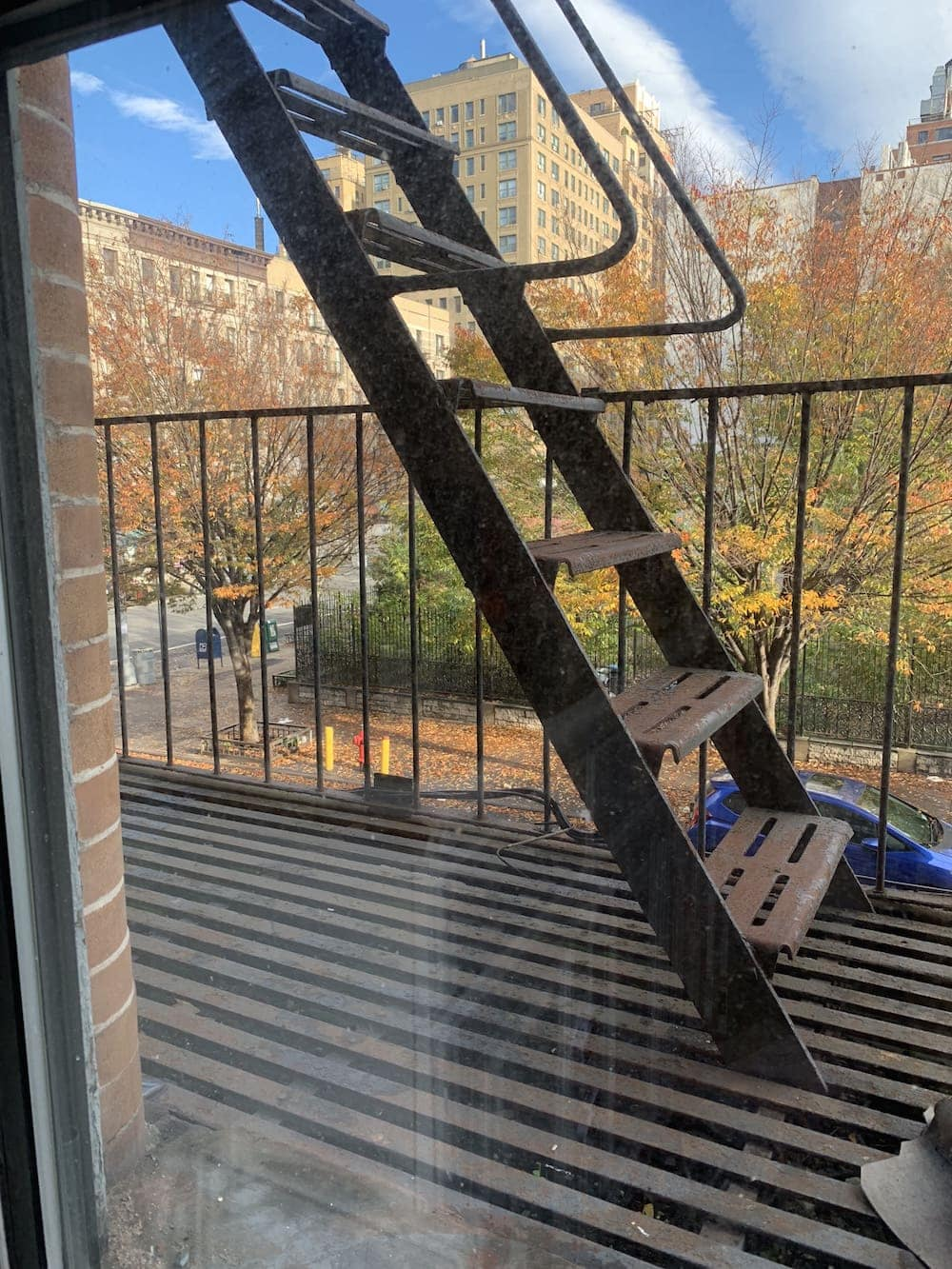 Looking at the fire escape