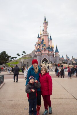 Lauren Brooke and Blake at Disneyland Paris