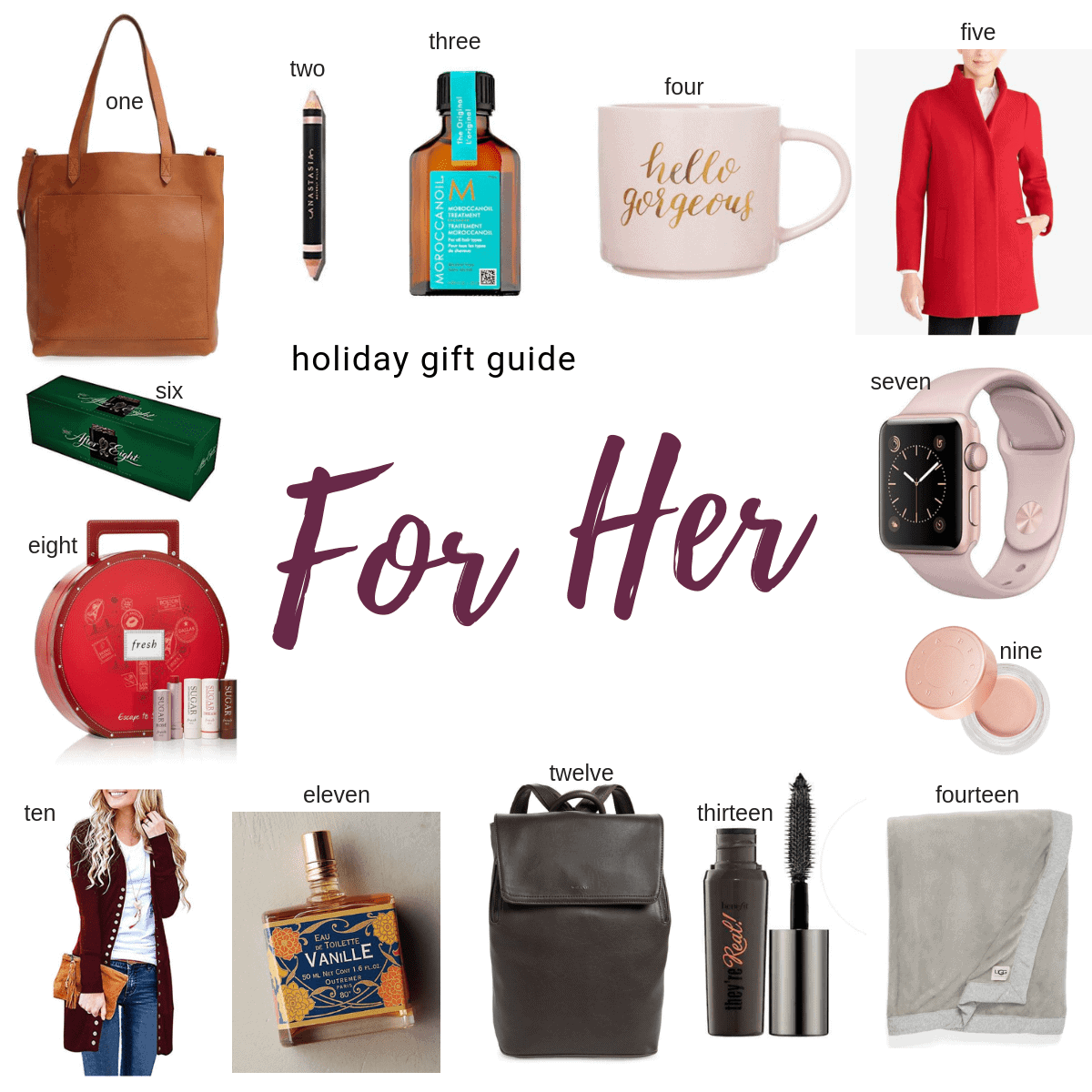For her Gift Guide Items