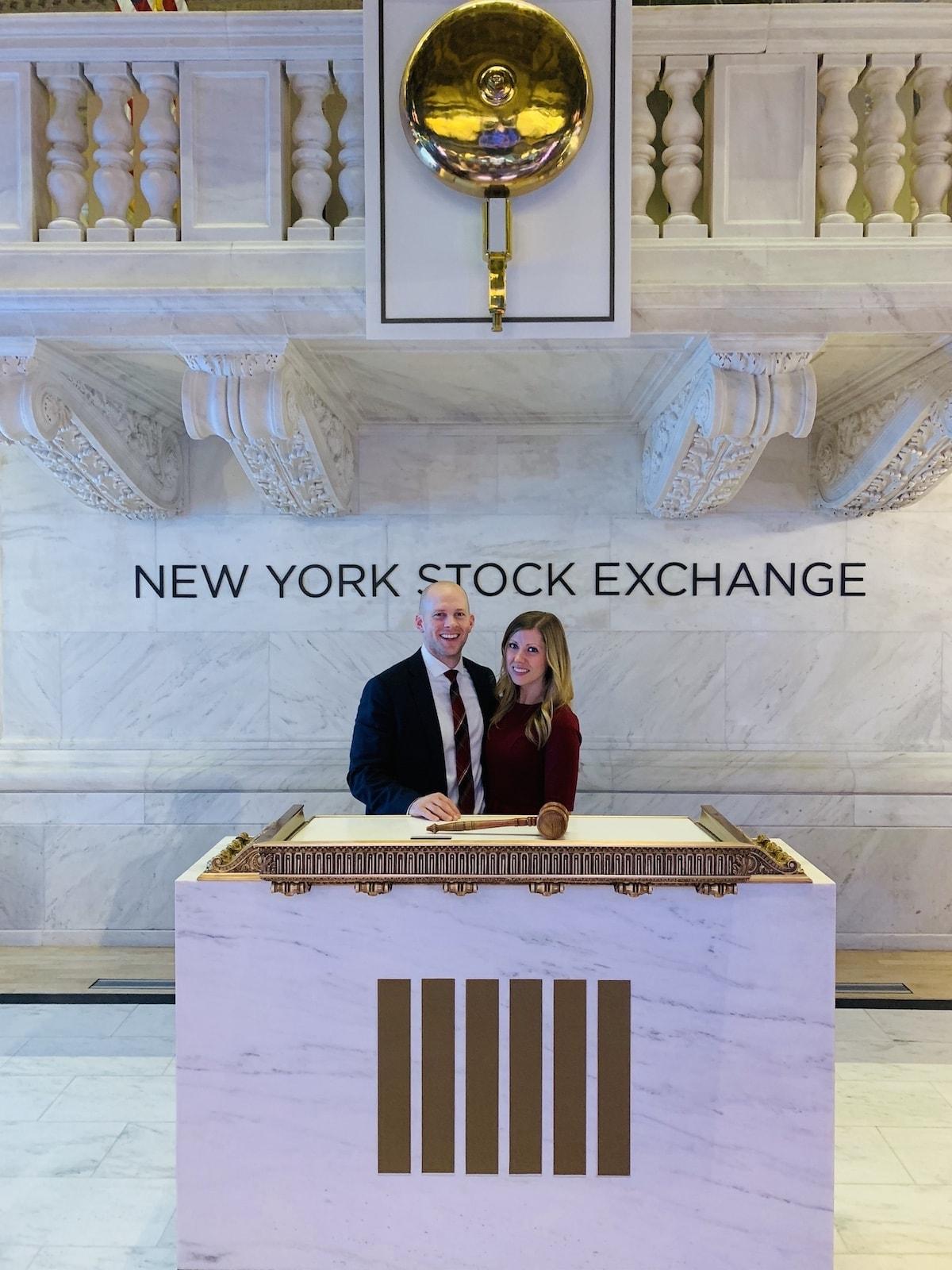 Lauren and Gordon and the New York Stock Exchange