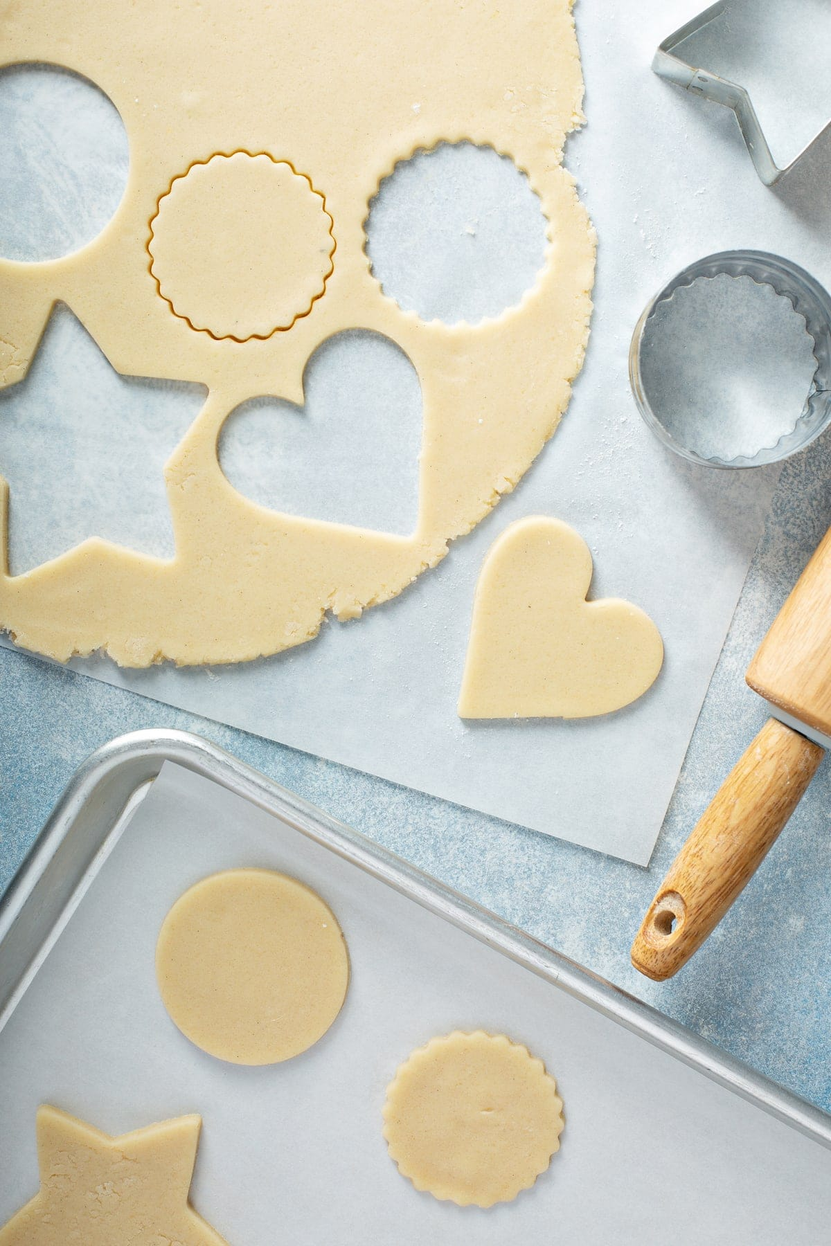 cut out Sugar cookie dough