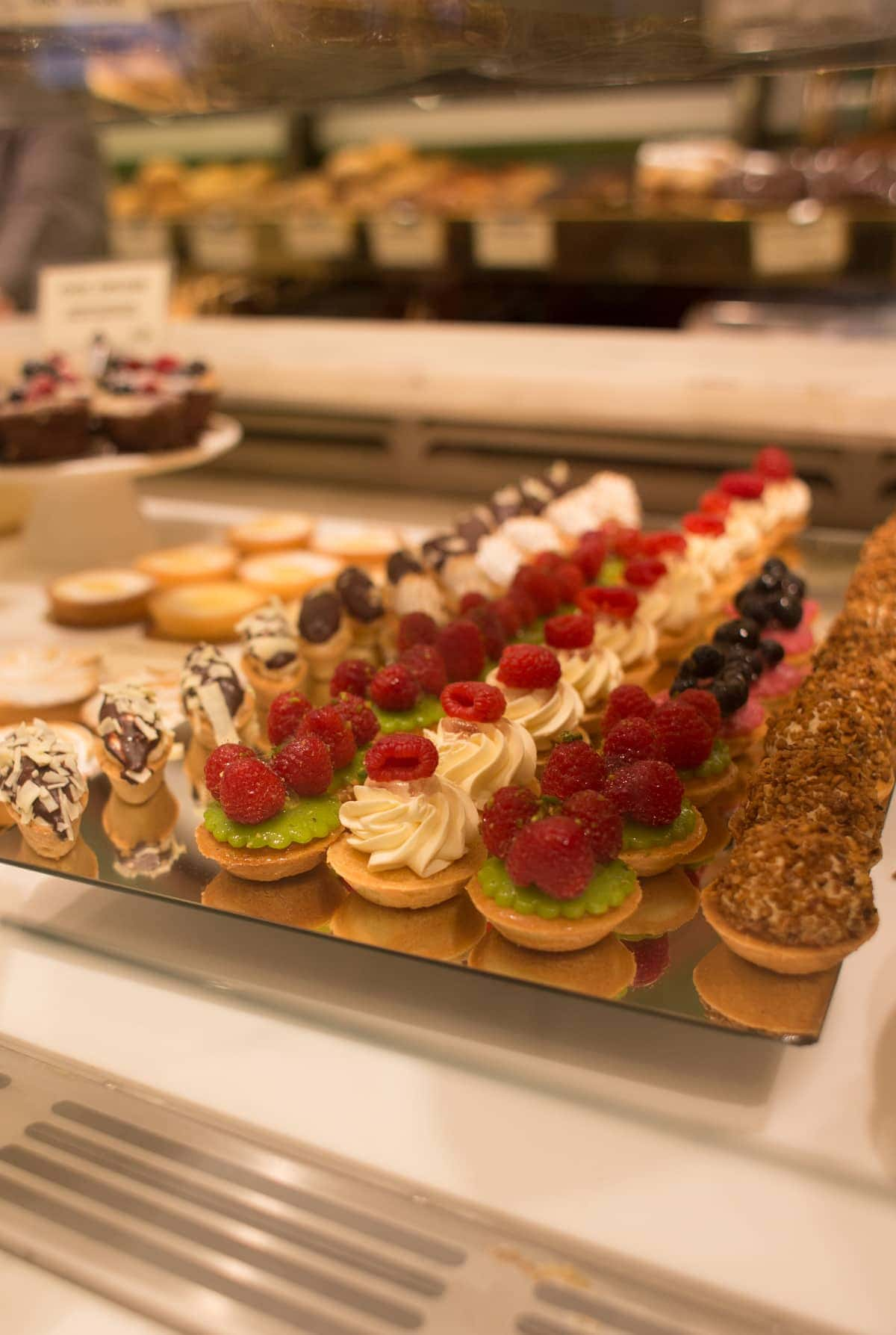 Pastries on display at an Amsterdam bakery