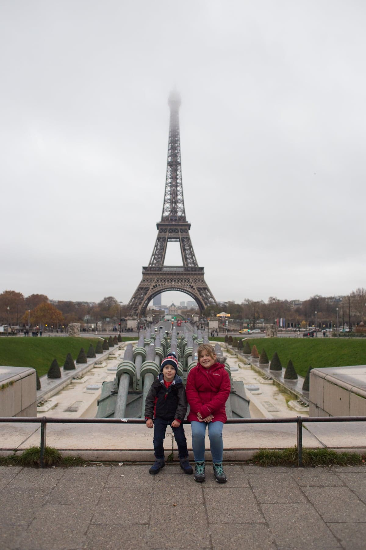 Brooke and Blake in front of the Eiffel tower