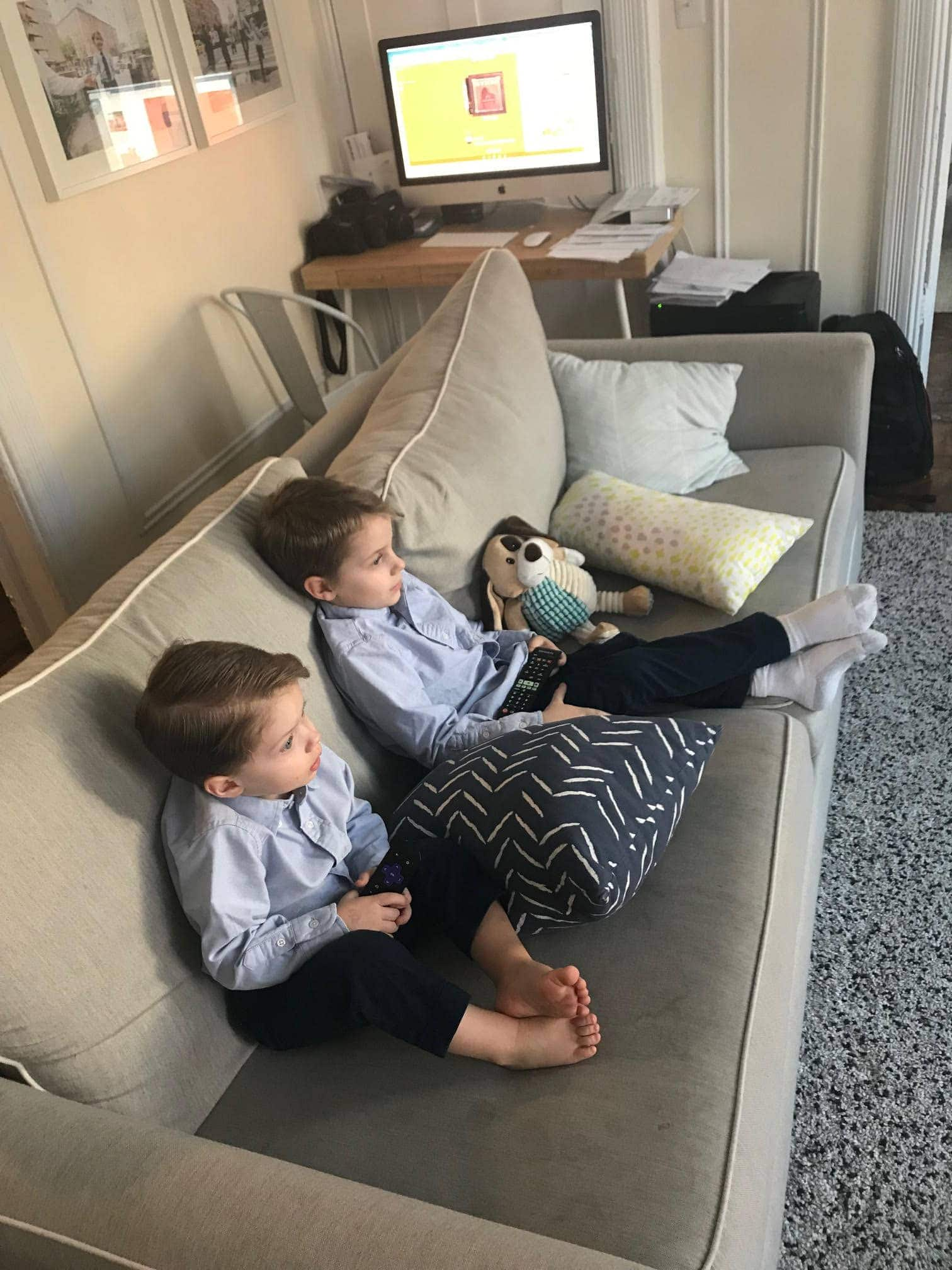 Blake and Eddie on the couch