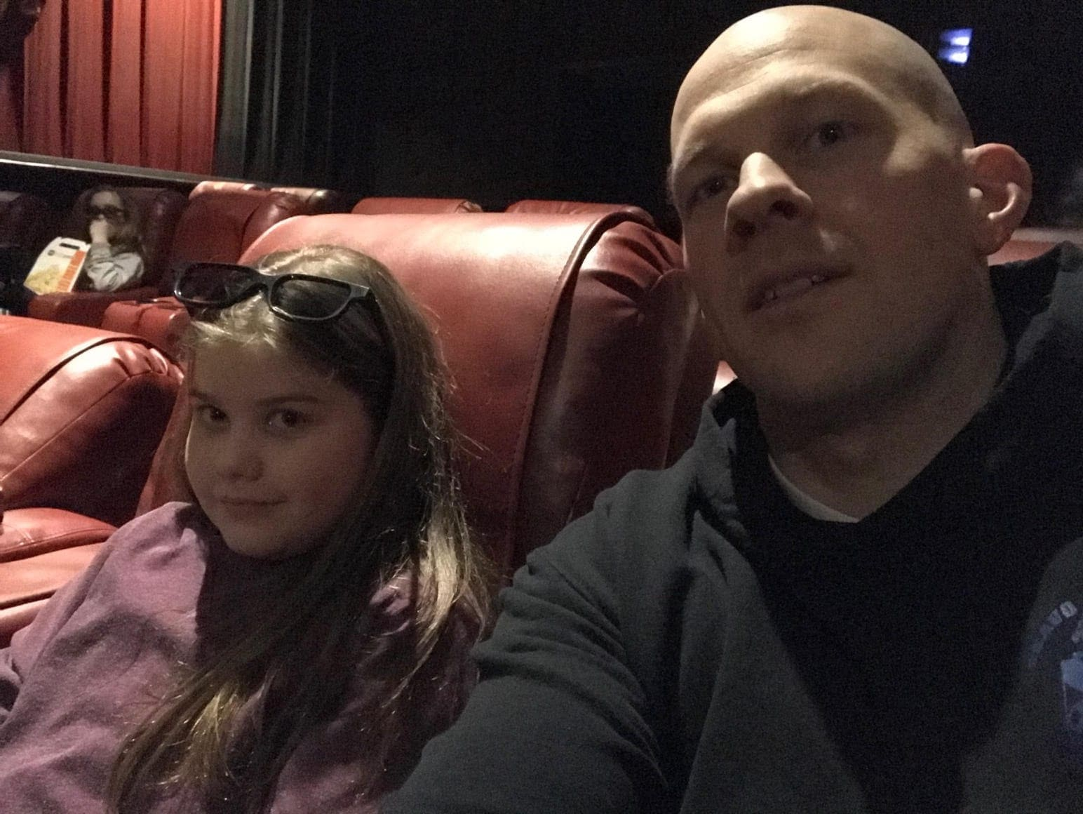 Brooke and Gordon at the movie theater