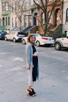Lauren standing in the street