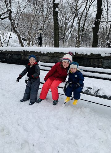 the kids in the snow
