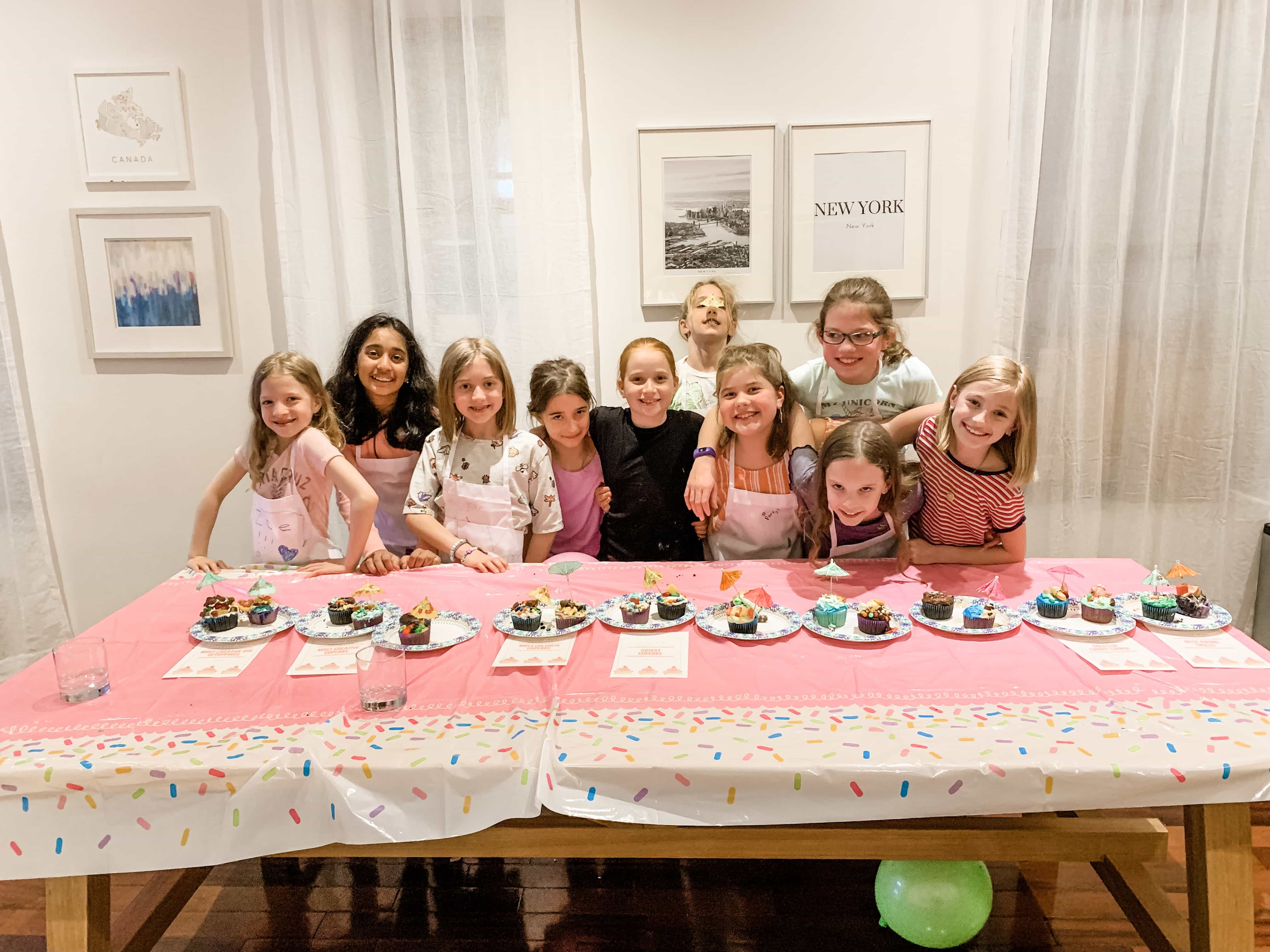 Brooke and her friends cupcake party