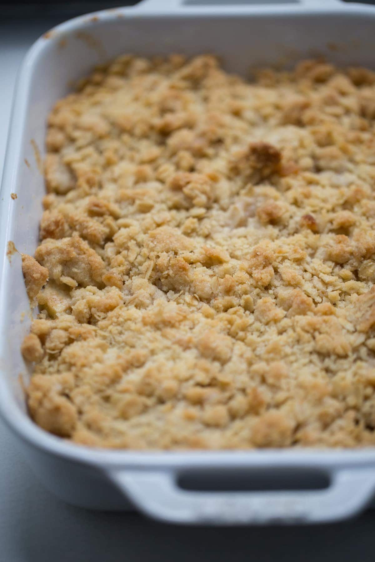 baked apple crisp recipe