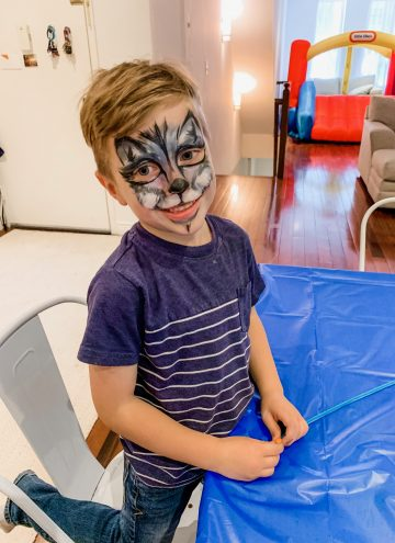 Blake with face paint on