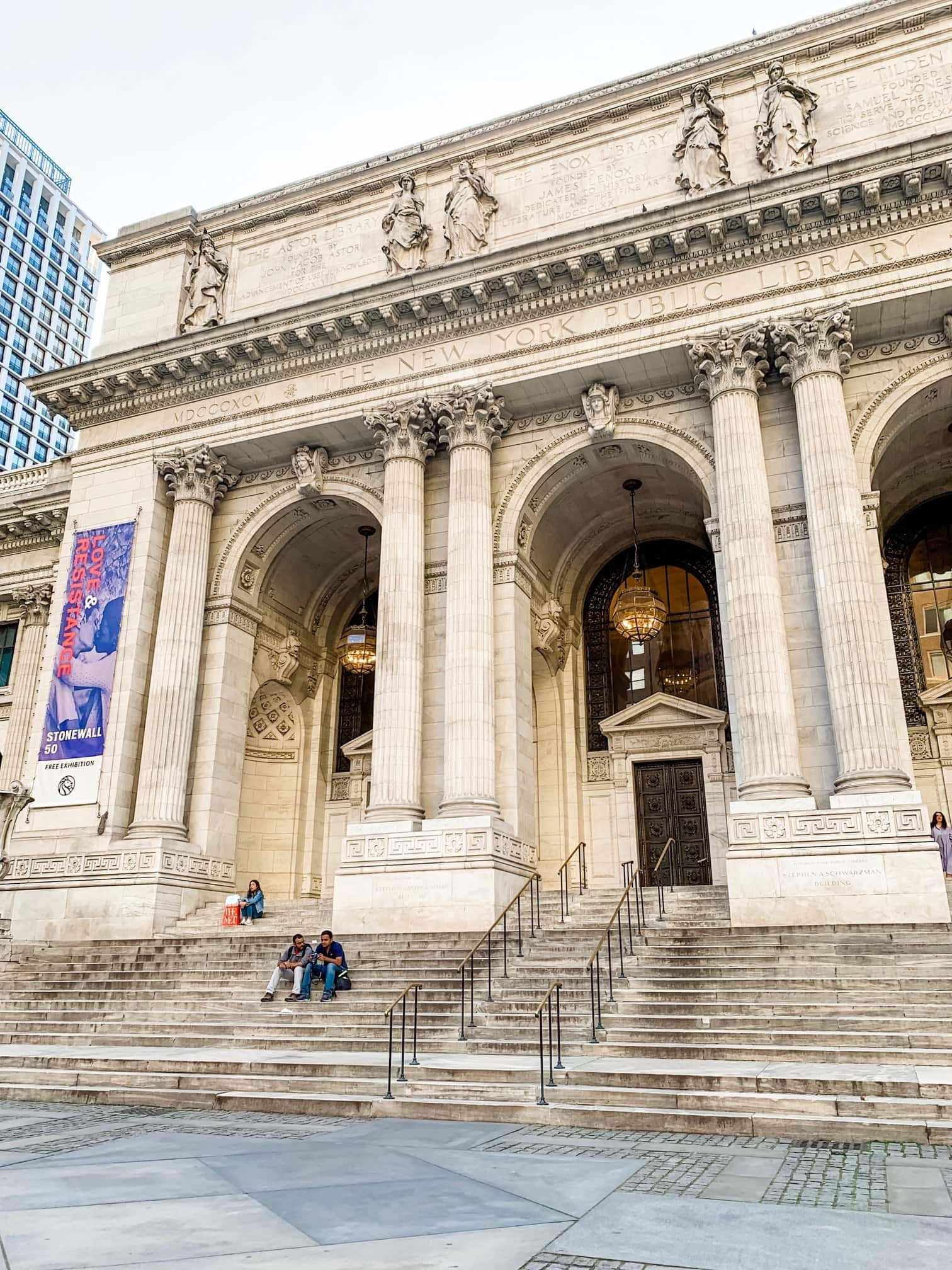 Outside of the New York public library