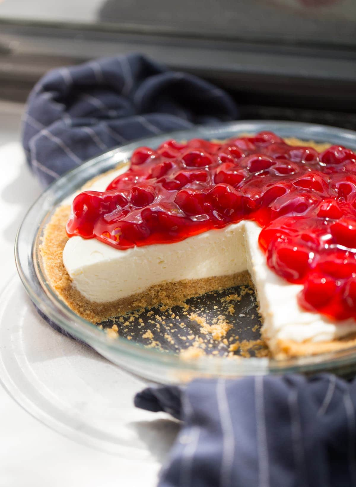 cherry topping on no bake cheesecake
