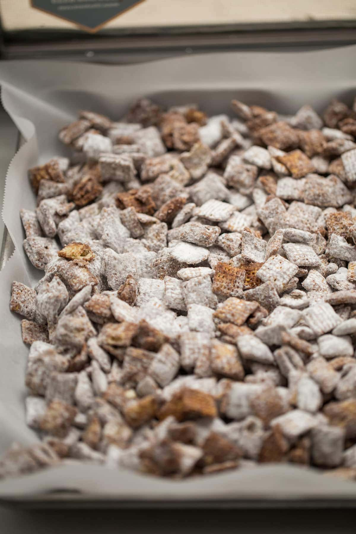 puppy chow on cooling tray