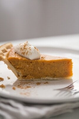 A piece of sweet potato pie