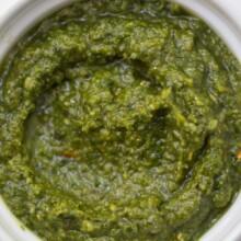 Pesto In a bowl