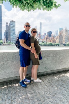 Gordon and Lauren in front of NYC skyline