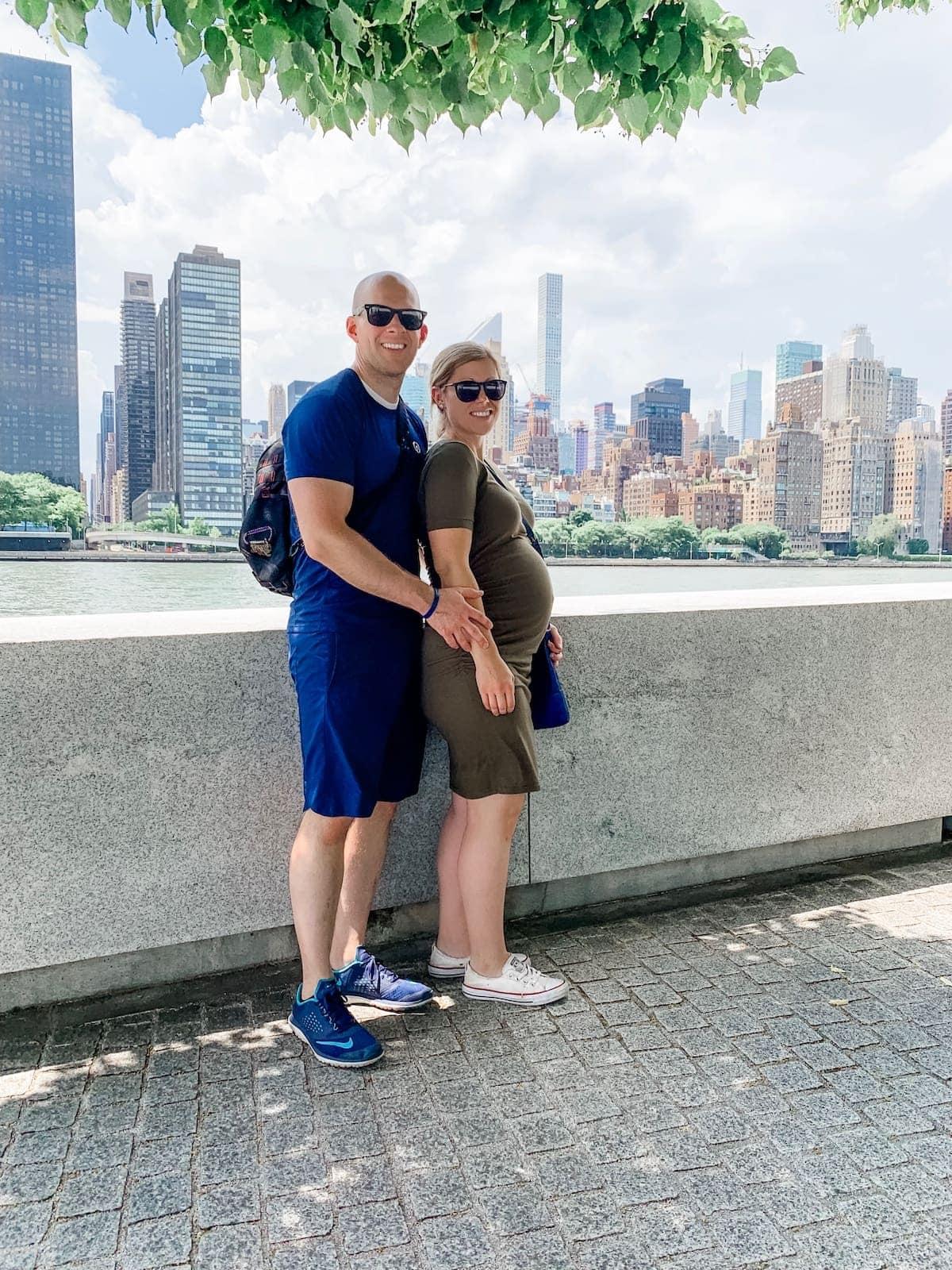 Gordon and Lauren in front of NYC skyline