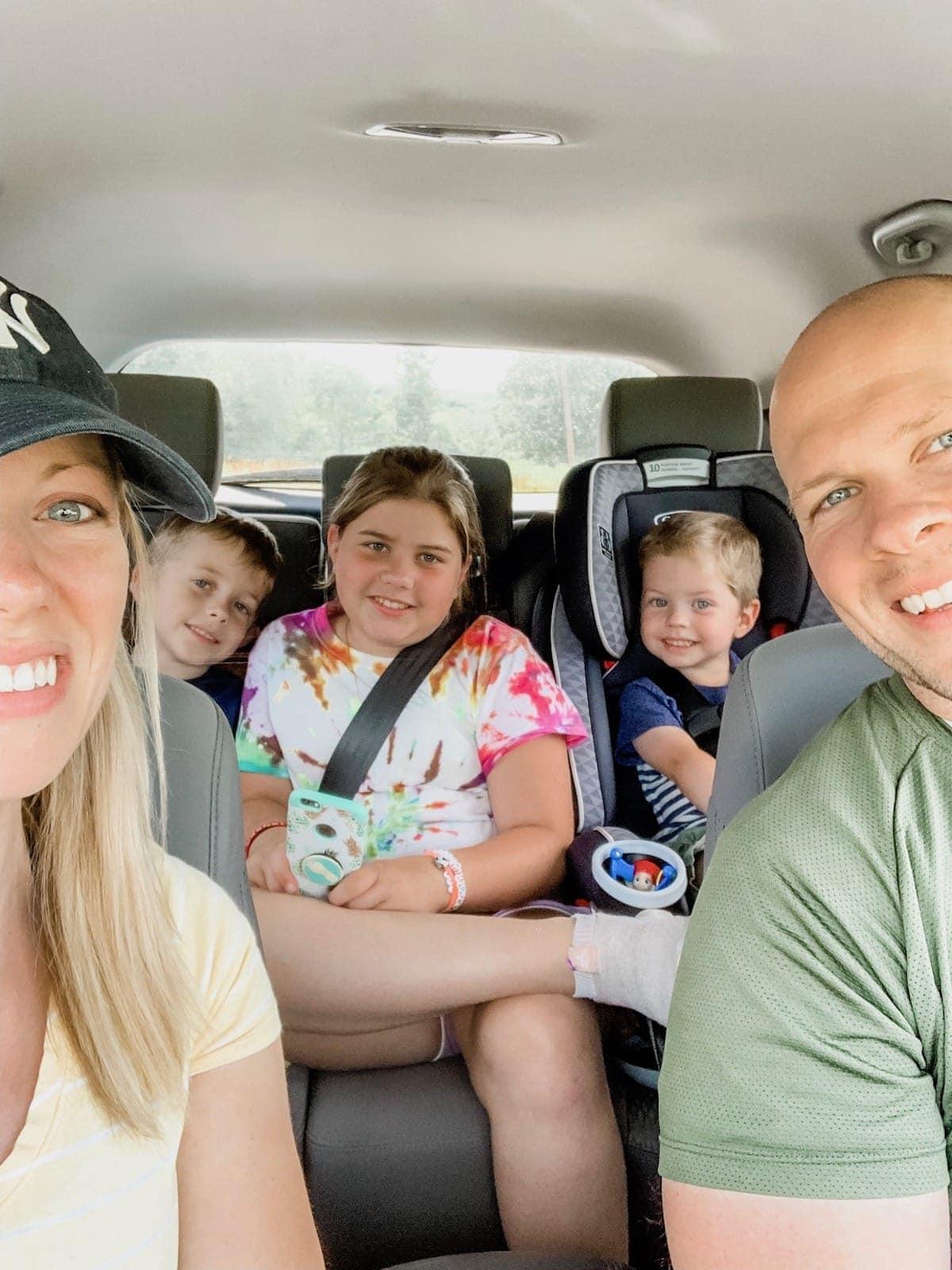 Brennan family car selfie
