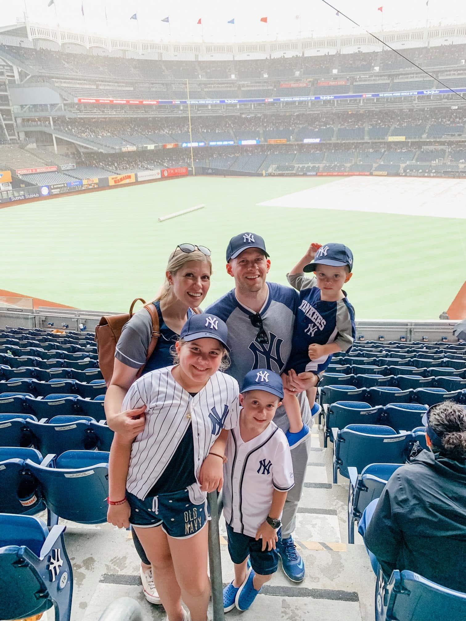 Brennan Family at a NY Yankees game