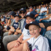 Gordon and the kids at a NY Yankees game