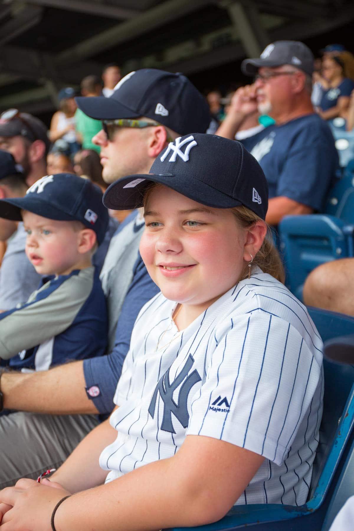 Brooke watching the baseball game