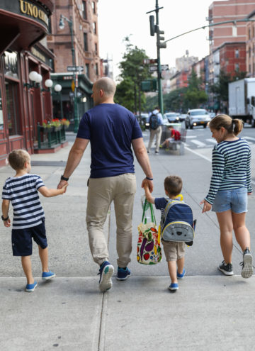Gordon and the kids walking the streets