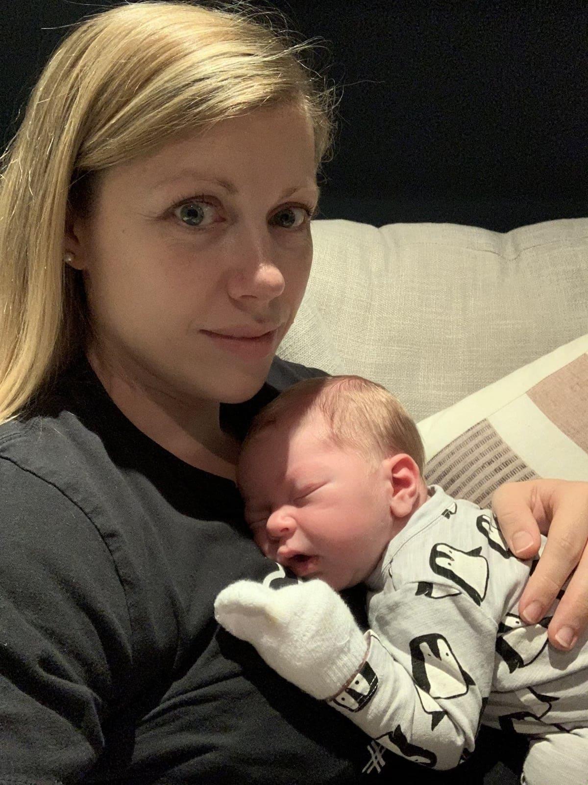 Lauren holding Porter