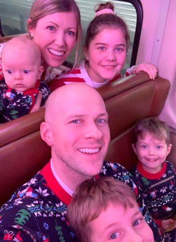 Brennan Family in a train car