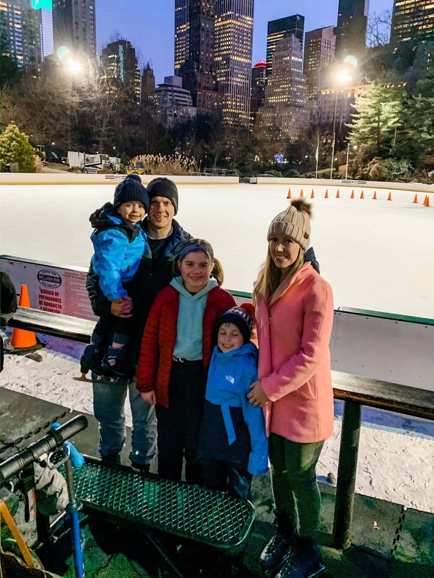 Brennan Family ice skating