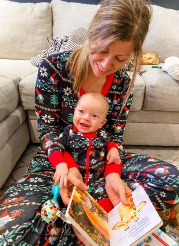 Lauren and Porter Christmas morning