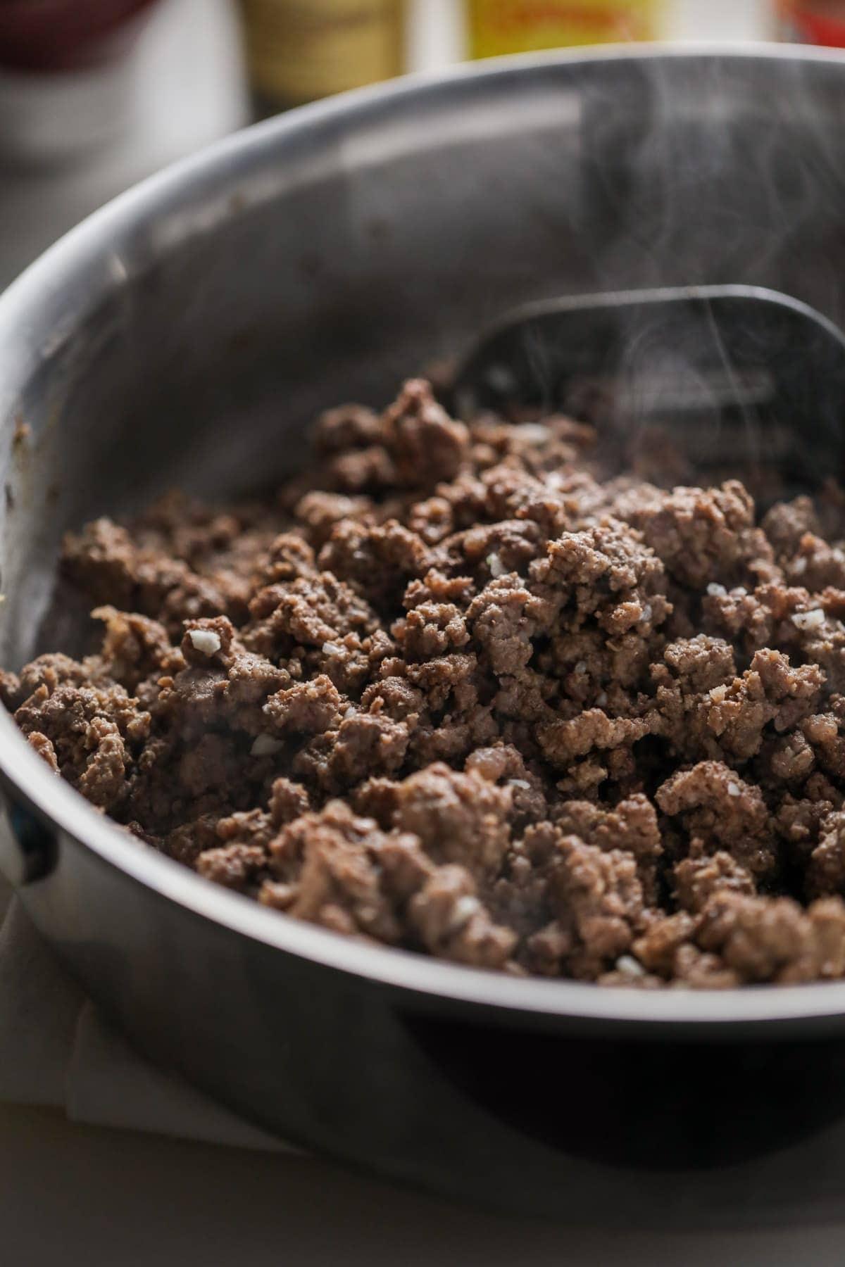 ground beef with garlic