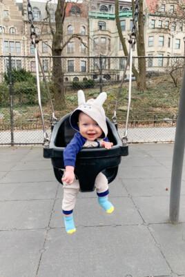 Porter in a swing