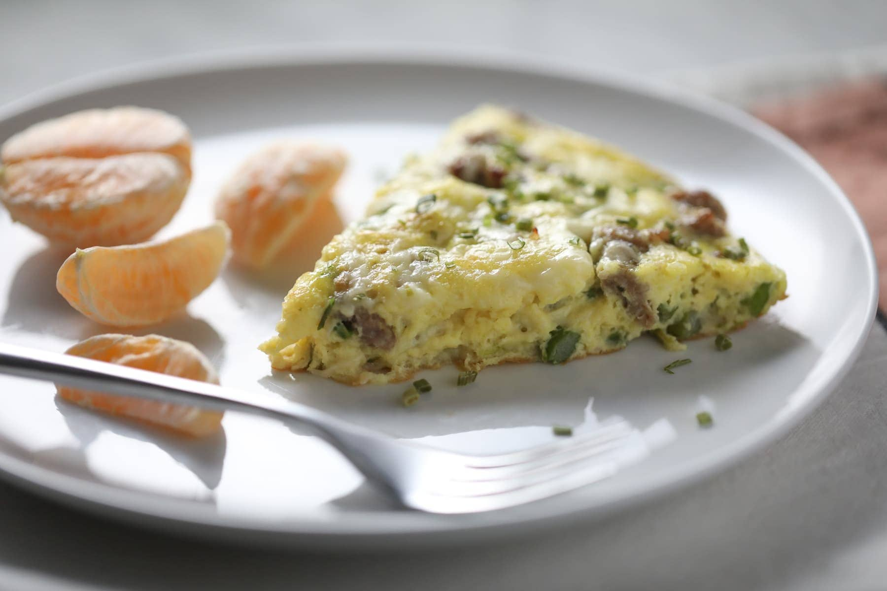 frittata slice on a plate
