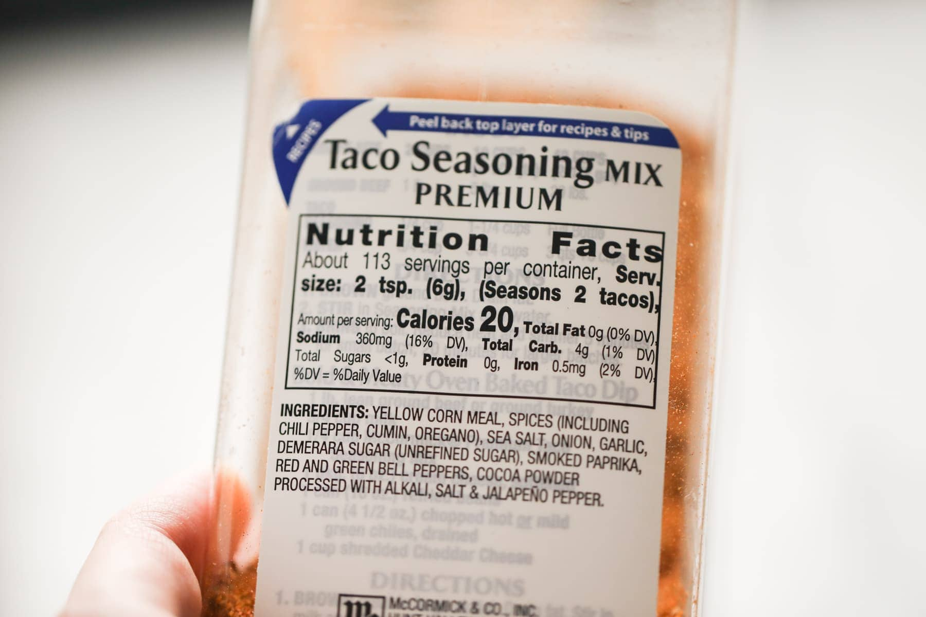 taco seasoning mccormick bottle