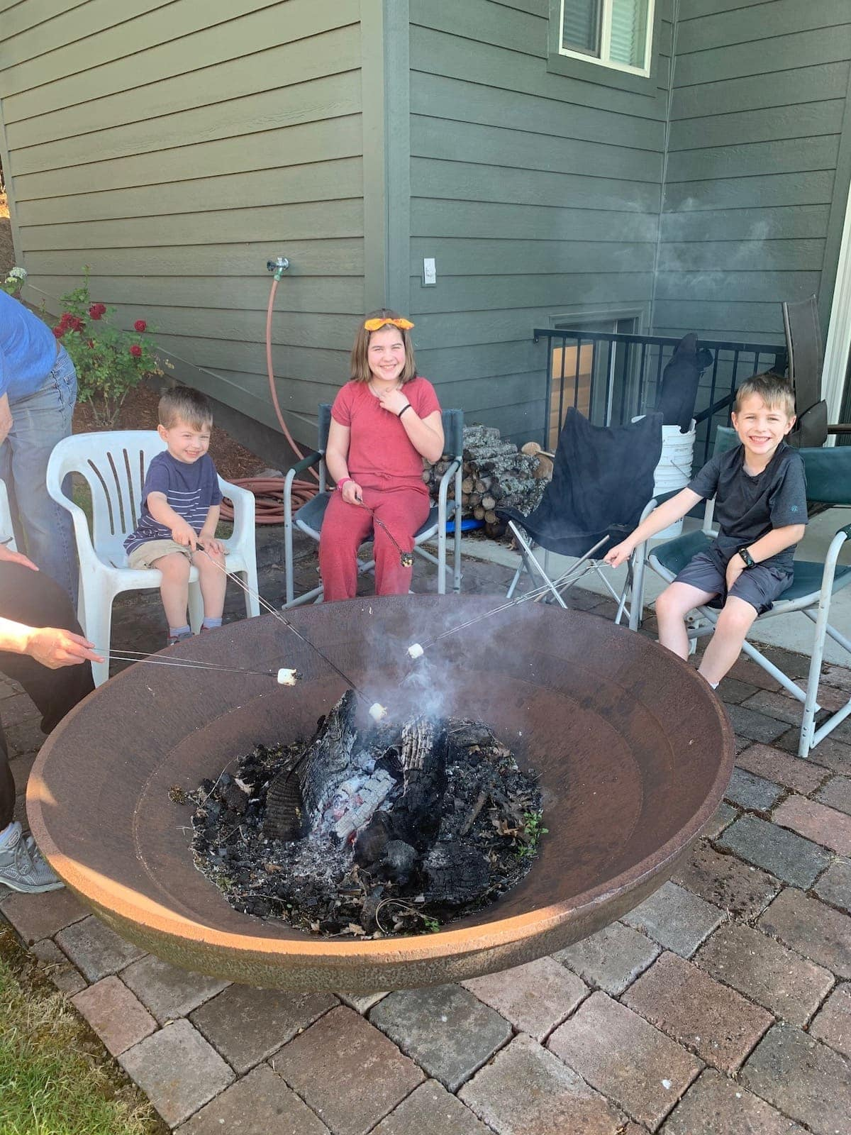 around the fire pit